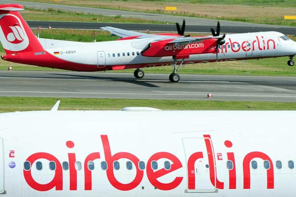 Ein Air-Berlin-Flieger startet in Tegel.