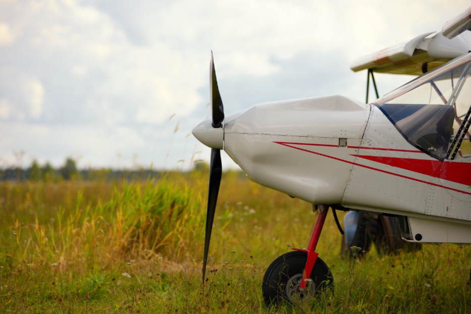 Erst im zweiten Versuch konnte der Pilot seine Maschine auf der Graspiste landen. (Symbolbild)