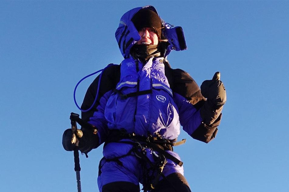 Anja Blacha schreckte die Höhe nicht ab: Mit 26 Jahren erklomm sie ihn bis oben zur Spitze.