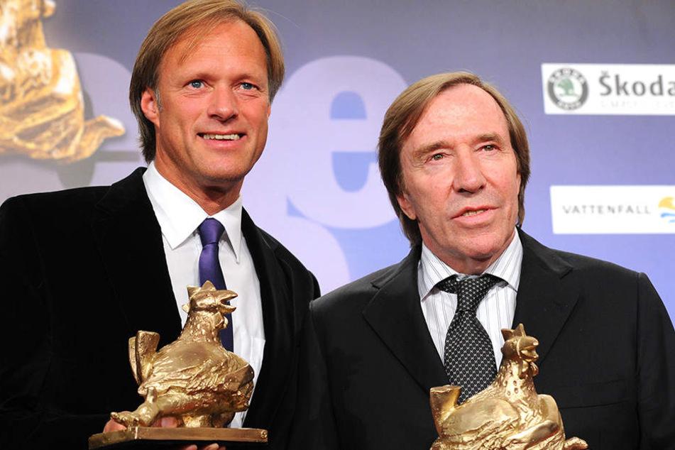 Gemeinsam mit Günter Netzer (74, rechts) bildete Gerhard Delling (59, links) ein beliebtes Moderatoren-Duo.