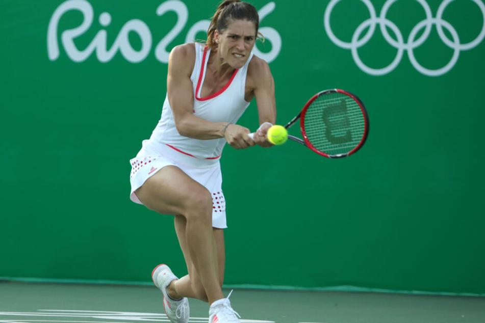 Andrea Petkovic bei den Olympischen Spielen 2016 in Rio de Janeiro.