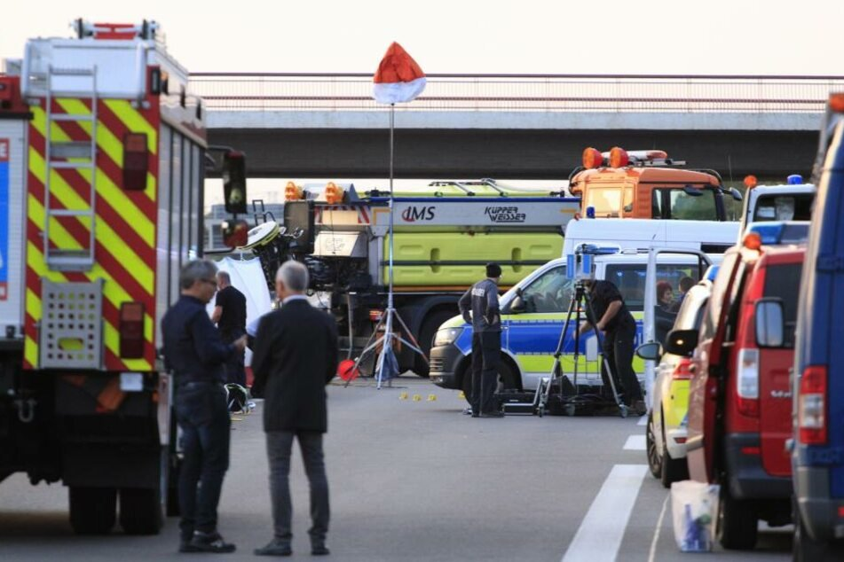 Polizisten haben auf der A10 auf einen Mann geschossen.