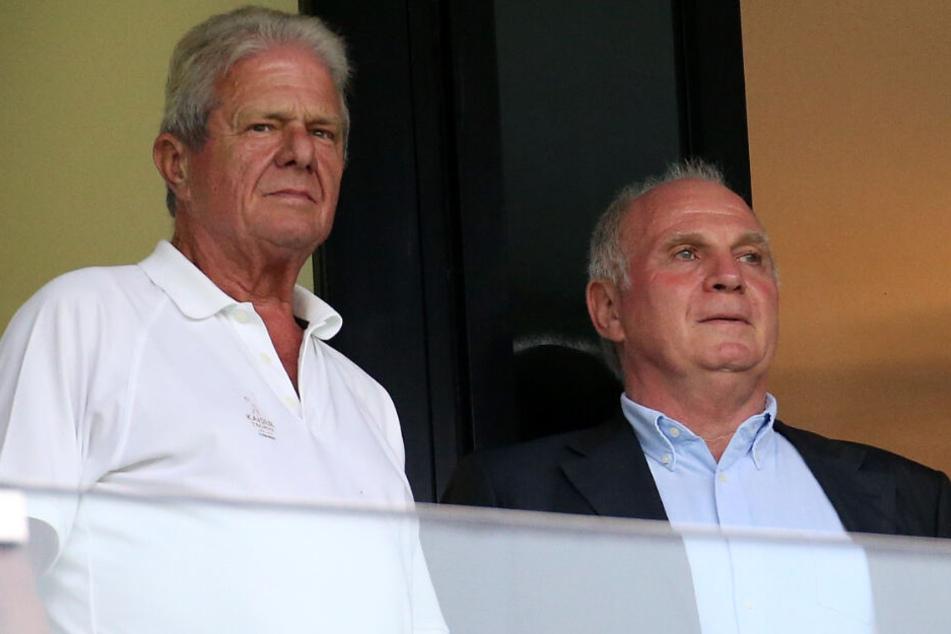Dietmar Hopp (l.) hat sich zum Rückzug von Uli Hoeneß (r.) geäußert.
