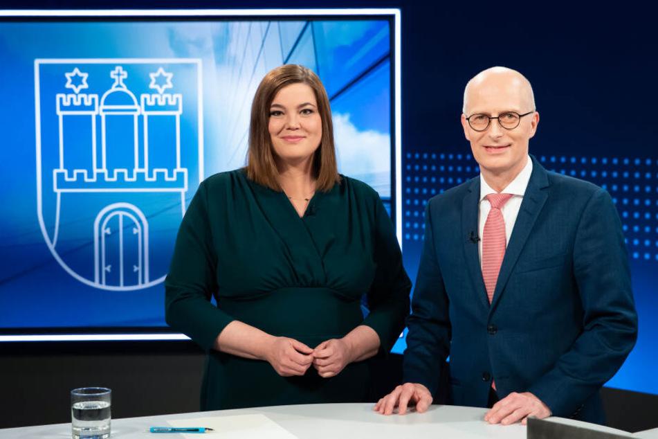 Katharina Fegebank (Bündnis 90/Die Grünen) und Peter Tschentscher (SPD).