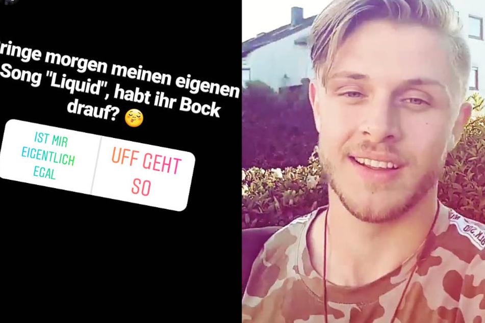 Die Fotomontage zeigt zwei Screenshots aus Instagram-Storys von Sven Lüchtenborg.