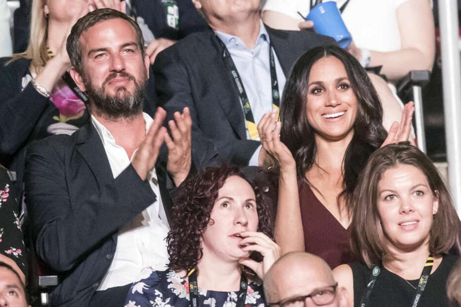 Meghan 2017 bei den Invictus-Games mit Markus Anderson, der für ein ungestörtes Date der Schauspielerin mit Prinz Harry sorgte.