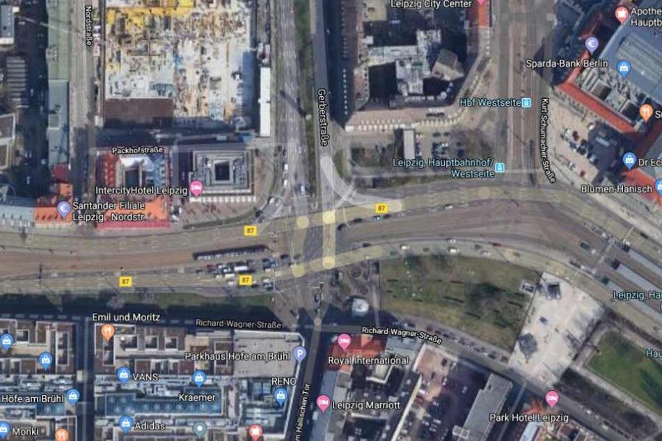 Der Vorfall ereignete sich auf der Kreuzung Tröndlinring und Gerberstraße.