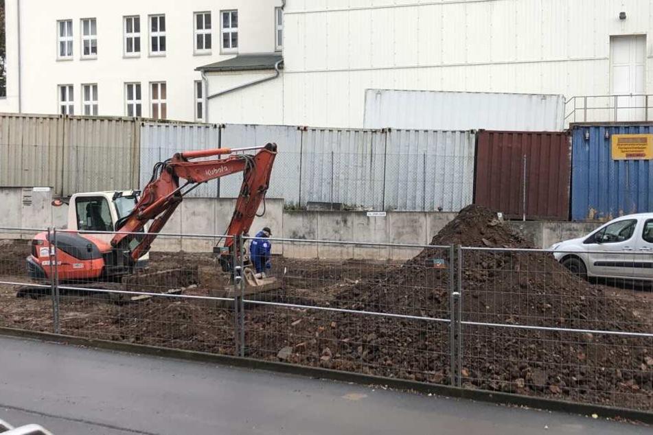 In dieser Baustelle wurde die Bombe gefunden.