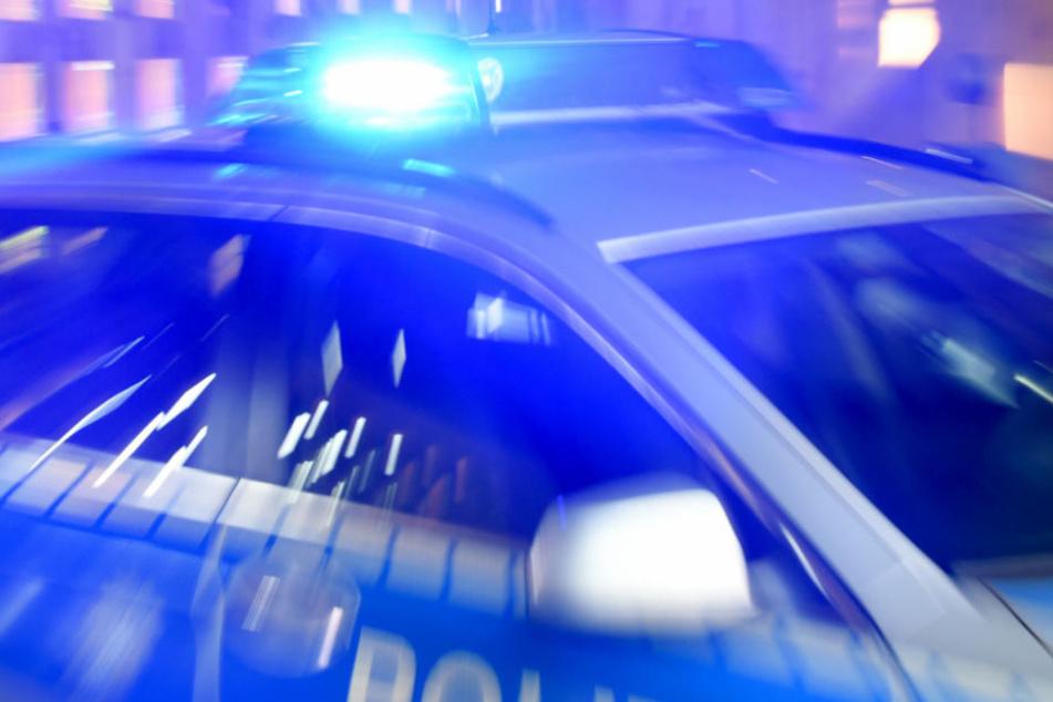 Mit dem Streifenwagen blockierten die Beamten die Straße (Symbolfoto).
