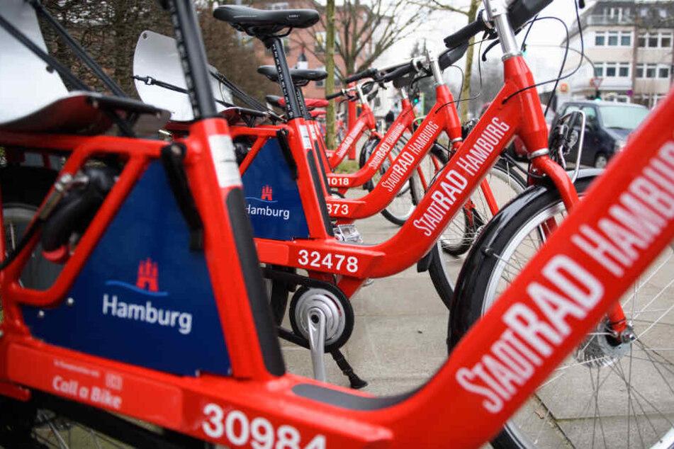 Im Sommer wurden die Leihräder von Stadtrad in Hamburg weniger genutzt als im Vorjahr.