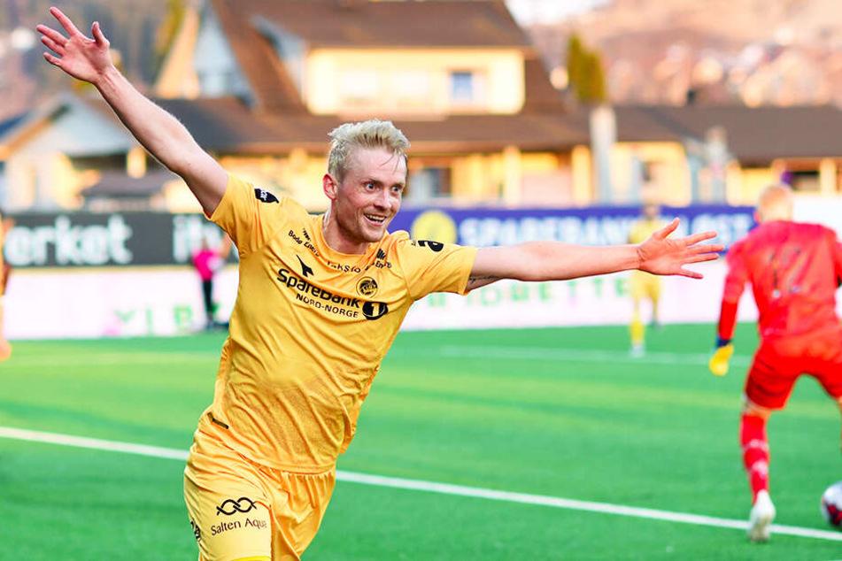 Geir André Herrem, früherer Stürmer des SV Babelsberg 03, traf doppelt für FK Bodø/Glimt.