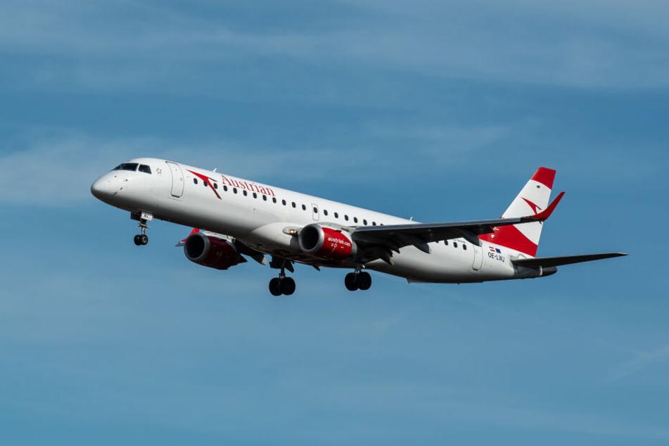 Ein Flugzeug der Austrian Airlines (Symbolbild).