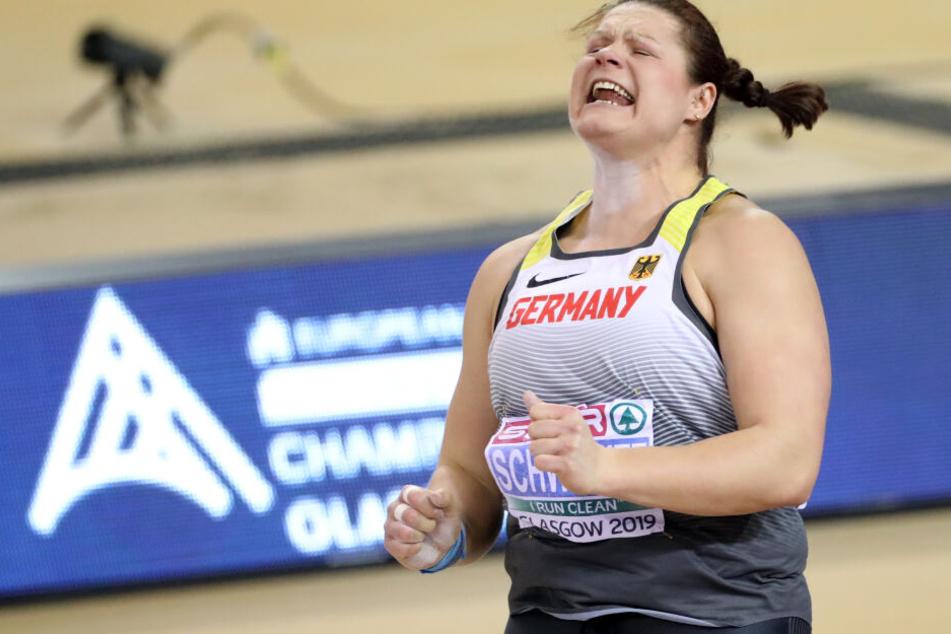 Kugelstoßerin Christina Schwanitz gewann am Sonntag EM-Silber.