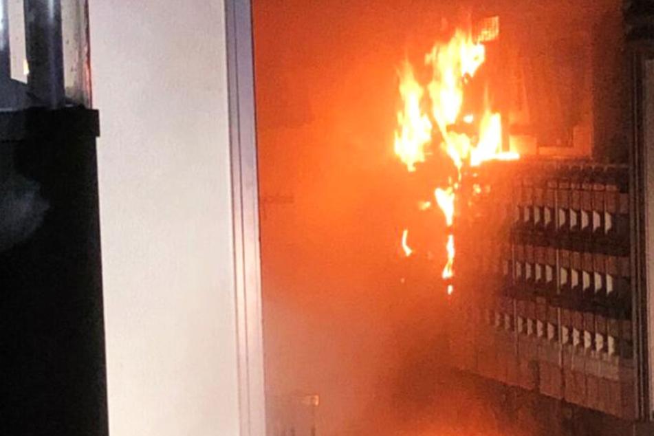 Ein einer Trafostation beim Gießener Rathaus war Feuer ausgebrochen.