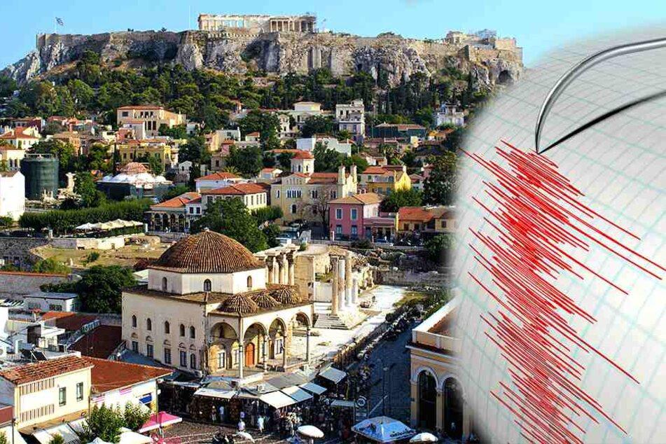 Wie aus dem Nichts: Erdbeben erschüttert griechische Hauptstadt Athen