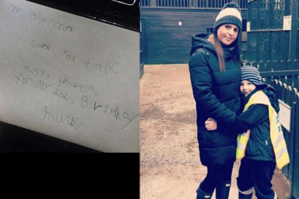 Jase Hyndman mit seiner Mutter Teri Copland, schrieb einen traurigen Brief.