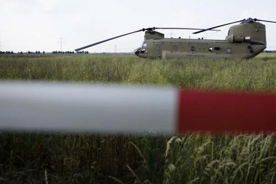 Nach Feld-Notlandung in Sachsen: So geht es mit dem US-Army-Hubschrauber weiter