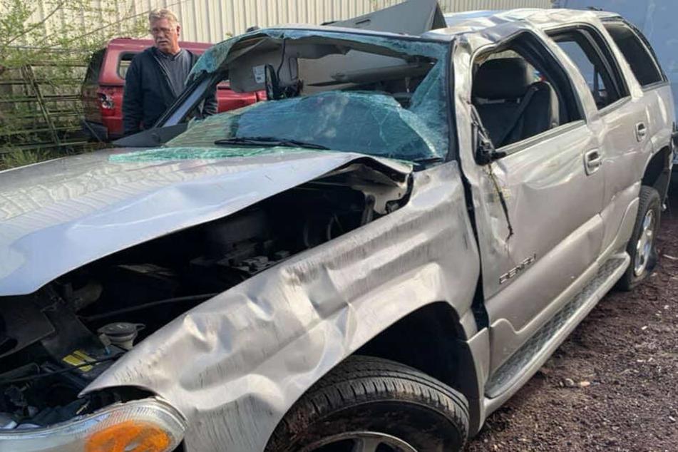 Das Unfallauto ist nur noch Schrott.