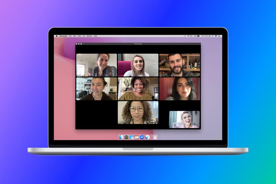 So sehen Video-Konferenzen mit dem Facebook Messenger aus.