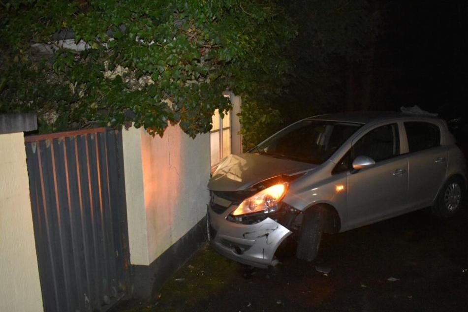Der gestohlene Opel wurde zu Schrott gefahren.
