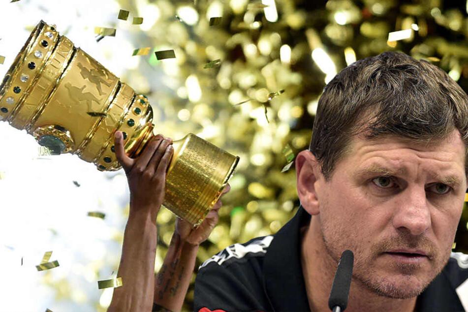 Steffen Baumgart (45) freut sich auf ein schönes Spiel.