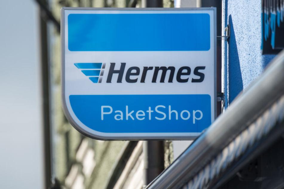 In vielen Städten gibt es Hermes-Paketshops.