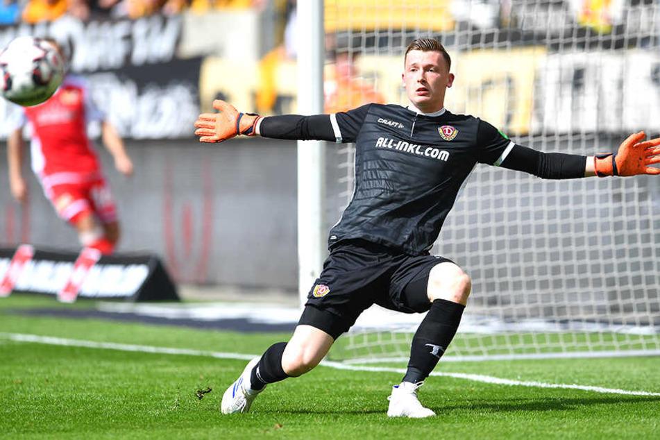 Noch trägt Markus Schubert im Training das Dynamo-Trikot. Und welches in der nächsten Saison?