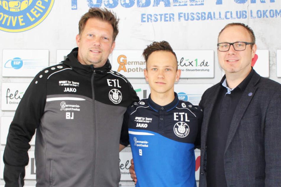 Youngster Maximilian Pommer (21, Mitte) verlängerte seinen Vertrag bei Lok Leipzig um ein weiteres Jahr.
