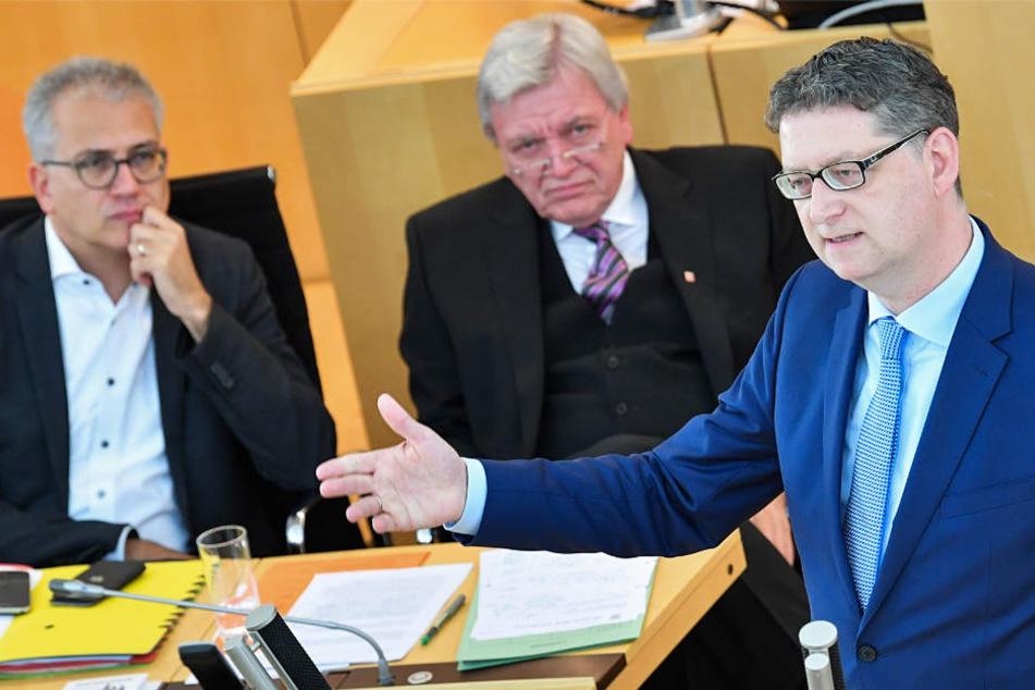 SPD-Chef Thorsten Schäfer-Gümbel (r.) hält viele Koalitionsmodelle für vorstellbar.