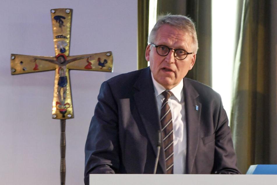 Der Präsident des Zentralkomitees der deutschen Katholiken (ZdK), Thomas Sternberg, spricht auf der Vollversammlung der Organisation in Mainz.