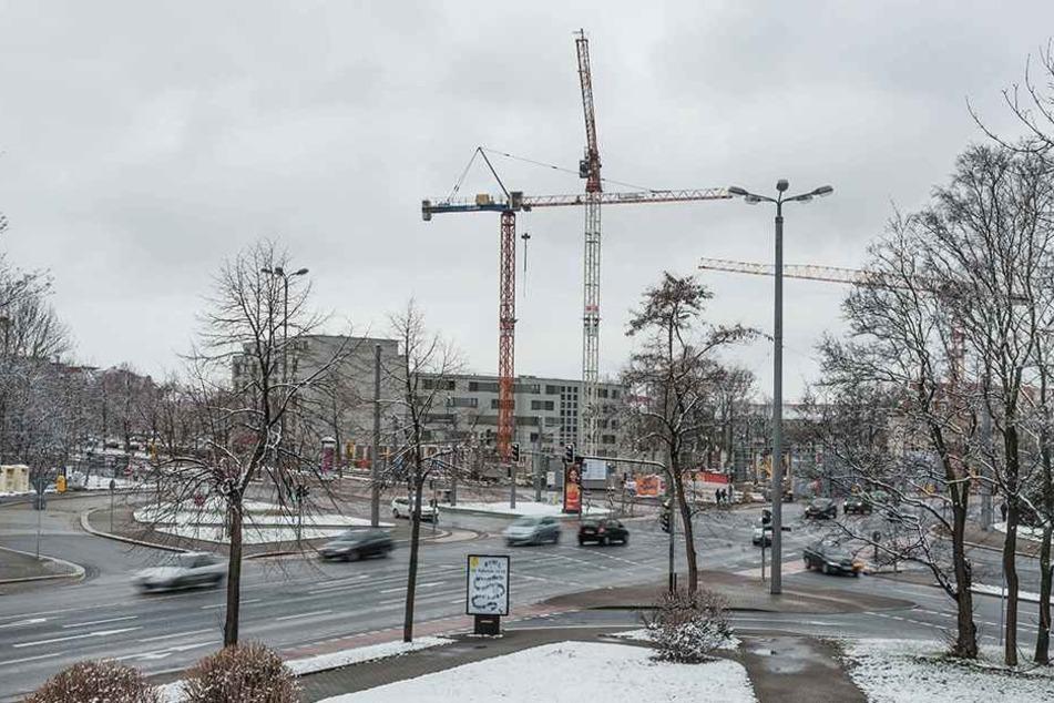 Am Nürnberger Platz drehen sich bereits die Baukräne.