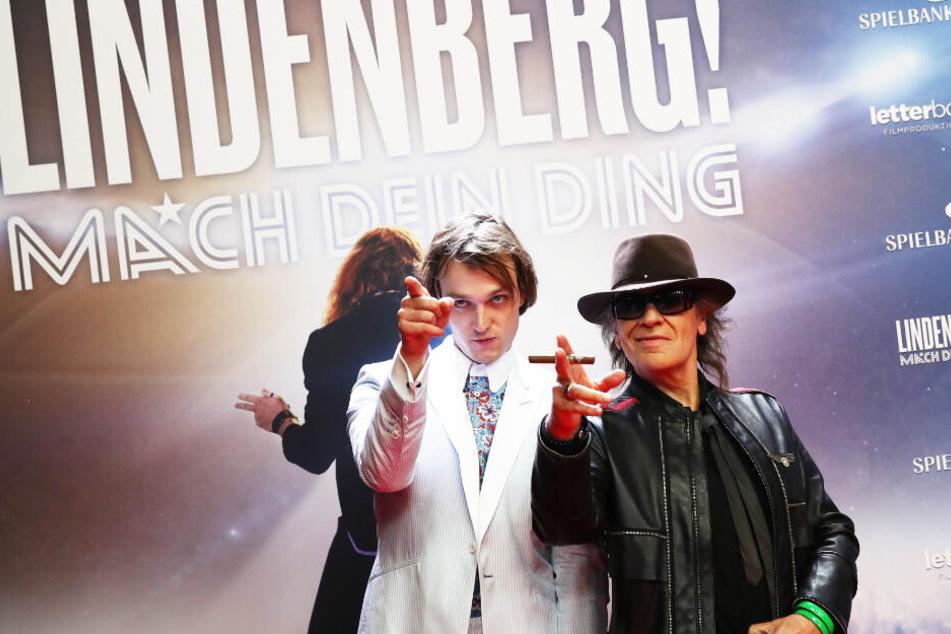 Gemeinsam mit Schauspieler Jan Bülow posierte Udo Lindenberg für die Kameras.