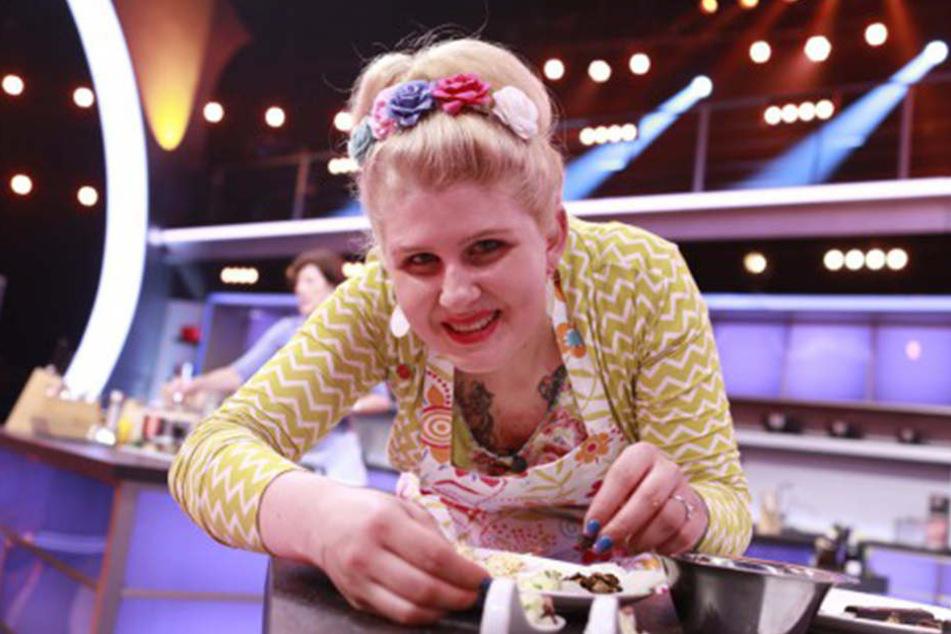 Lisa Angermann (26) trat quirlig bunt auf.