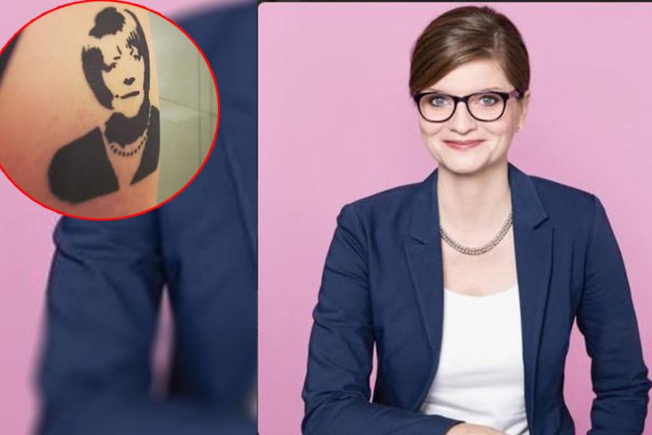 Warum trug diese SPD-Politikerin ein Merkel-Tattoo?