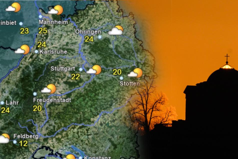 So wird das Wetter am Donnerstag in Baden-Württemberg. (Fotomontage)