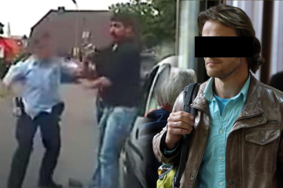 Polizist prügelt bei Kontrolle plötzlich auf Mann ein