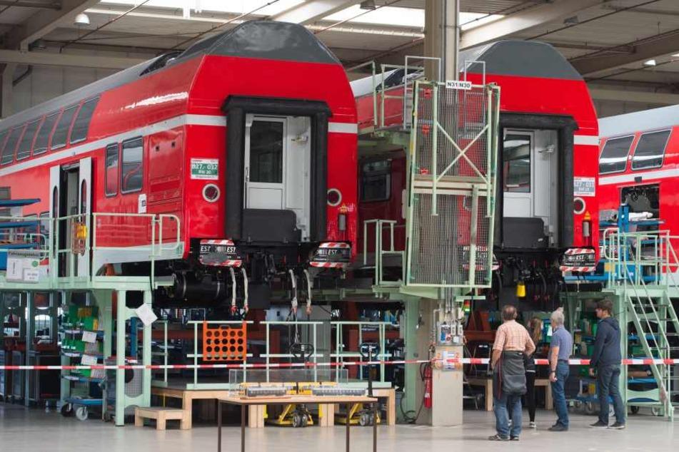 Auch das  Bombardier-Werk in Bautzen ist von dem Stellenabbau betroffen.