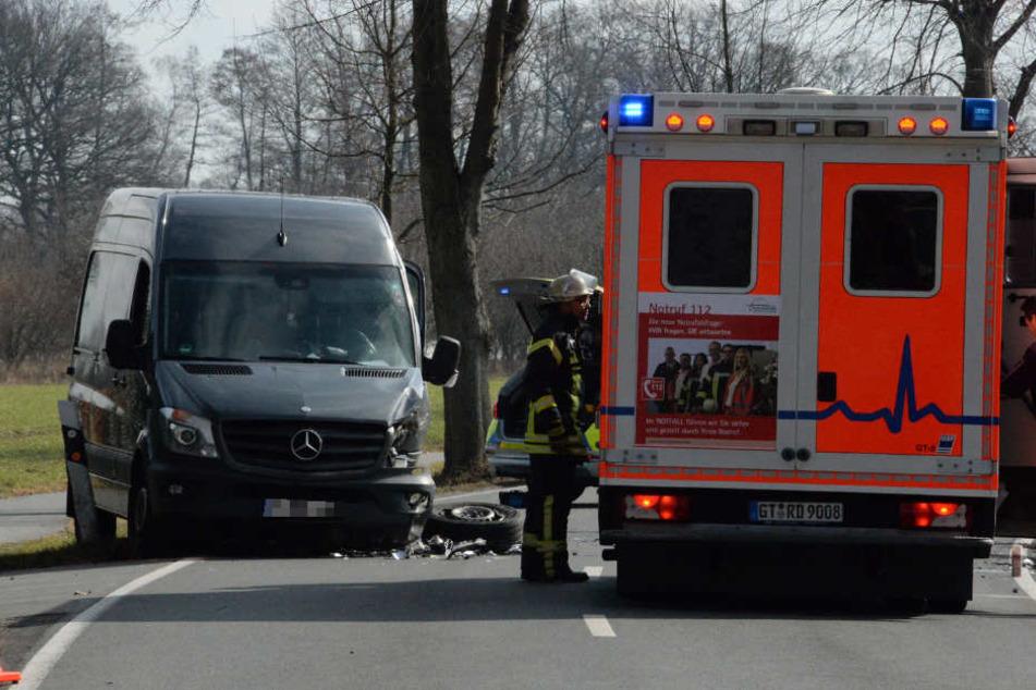Die Verletzten mussten mit dem Krankenwagen ins Krankenhaus.