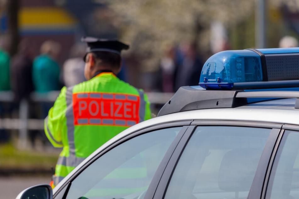 Der Einsatzzug der Leipziger Polizei kam zum Einsatz.