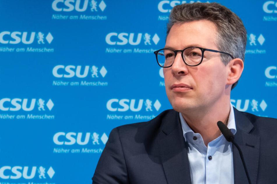 CSU-Generalsekretär Markus Blume gratuliert Hamburg zum Ergebnis der Bürgerschaftswahl. (Archiv)