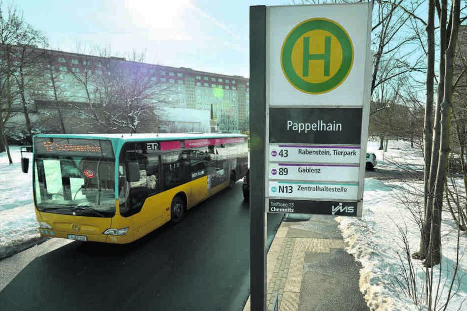 """Mithilfe der Chemnitzer soll die Bushaltestelle """"Pappelhain"""" umbenannt werden."""