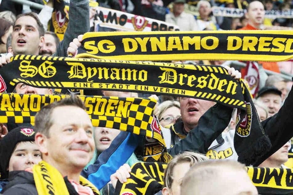 Die Dynamo-Fans sind auch auswärts eine Macht - mehr als 5000 sind durchschnittlich dabei.