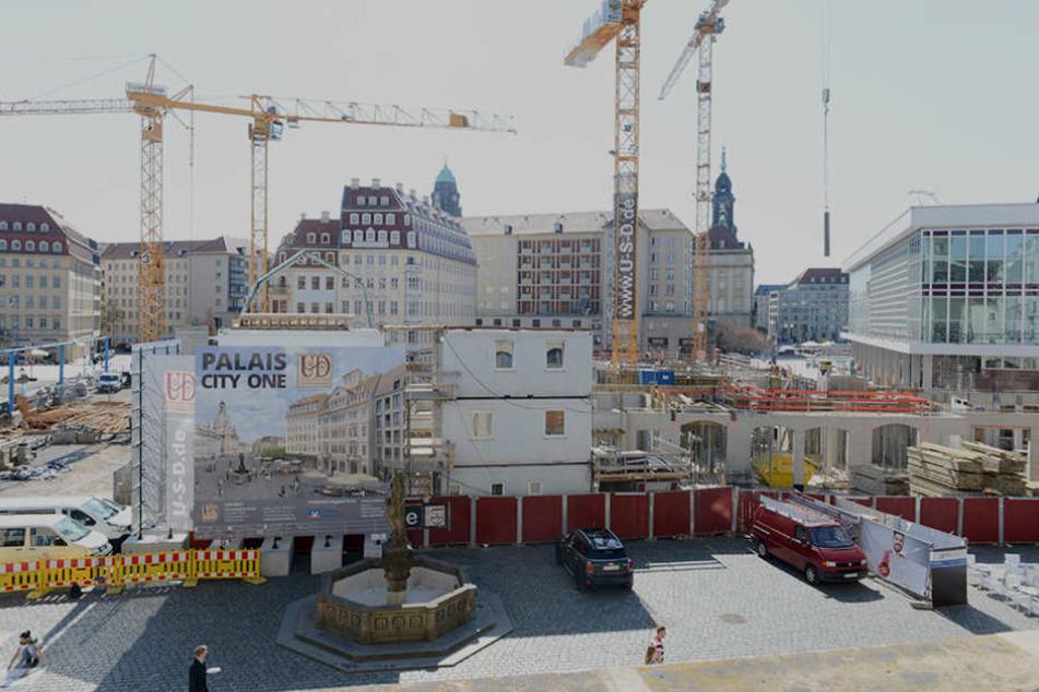 Eine der letzten Neumarkt-Baustellen: Das Palais City  One der USD Immobilien GmbH im Quartier VI.