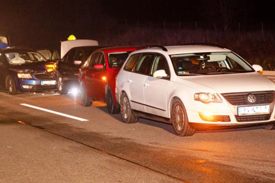 A4 Richtung Görlitz nach Unfall mit vier Autos zwei Stunden dicht!