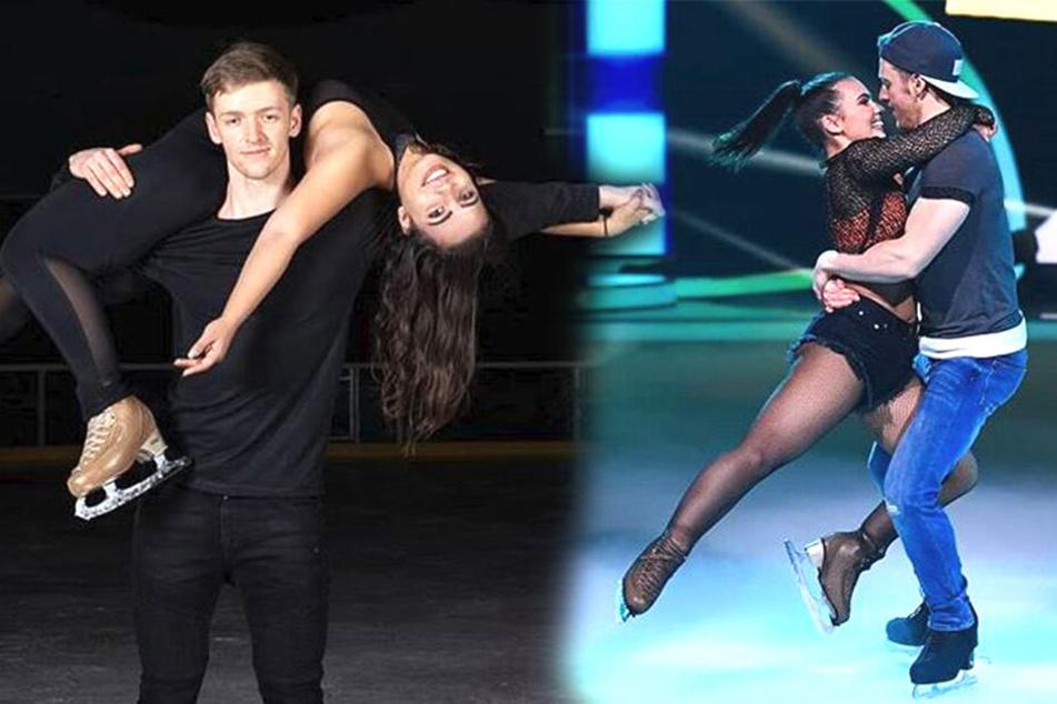 """Timur Bartels und seine Tanzpartnerin Amani Fancy wirbelten bei """"Dancing on Ice"""" bis zum Halbfinale über das Eisparkett."""