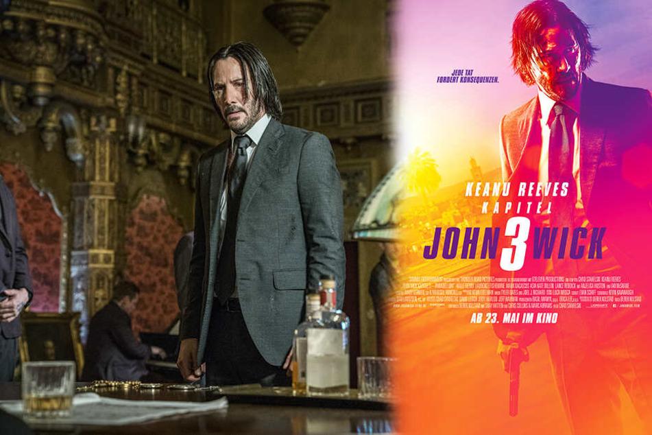 "Ultrabrutal: Reeves metzelt in ""John Wick 3"" Gegnermassen nieder!"
