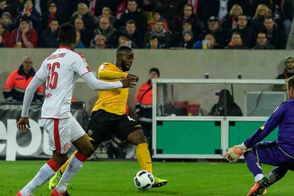 So bereitete Erich Berko das 3:0 in Düsseldorf vor. Am Sonntag darf der Neuzugang wieder auf dem linken Flügel ran.