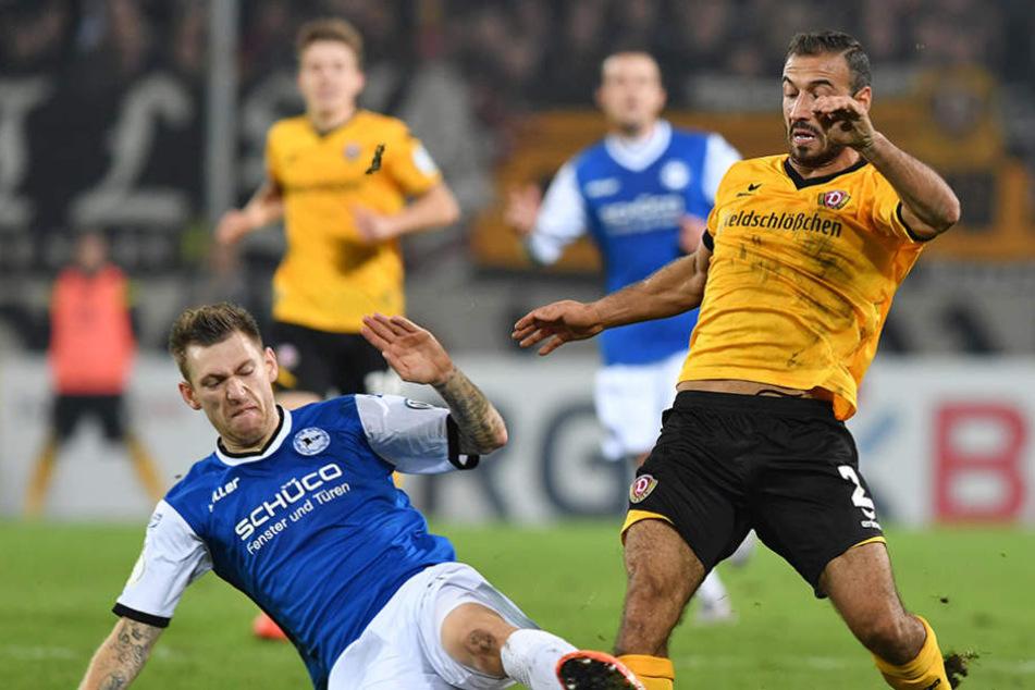 Steht bei den Bielefeldern unter besonderer Beobachtung: Dynamos Akaki Gogia.