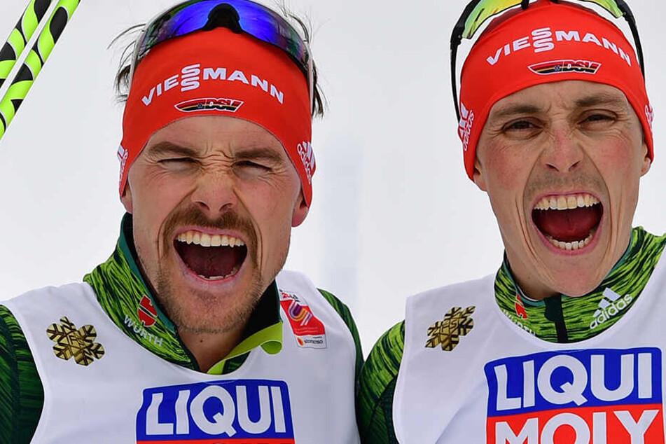 Nächstes WM-Gold! Eric Frenzel und Fabian Rießle siegen im Teamsprint