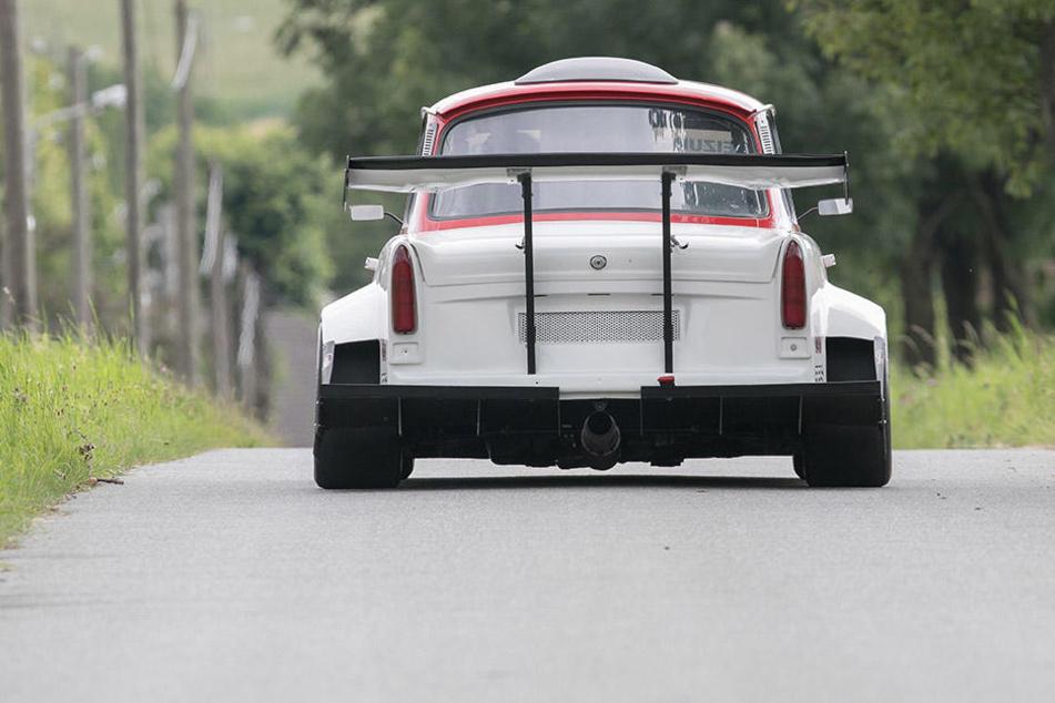 Der umgebaute Trabant kann sich auch von hinten sehen lassen.
